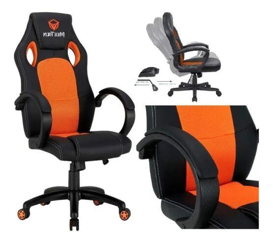 Silla Gamer Meetion Black + Orange MT-CHR05 9