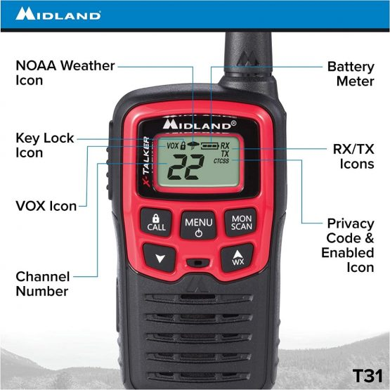 2 Radios Walkie Talkies Midland T31 con 22 Canales 6