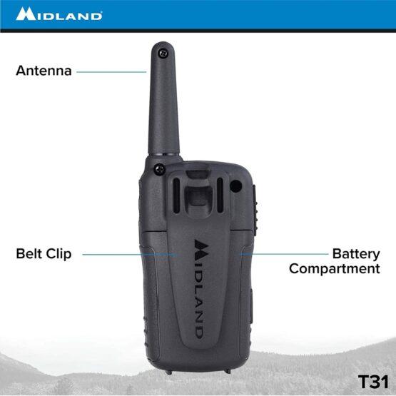 2 Radios Walkie Talkies Midland T31 con 22 Canales 7