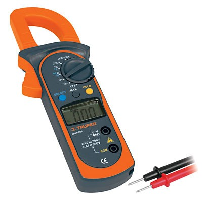 Tester Corriente Digital Truper con Gancho para Medicion de Temperatura 1