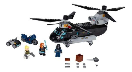 Helicoptero Lego Marvel Black Widow 2