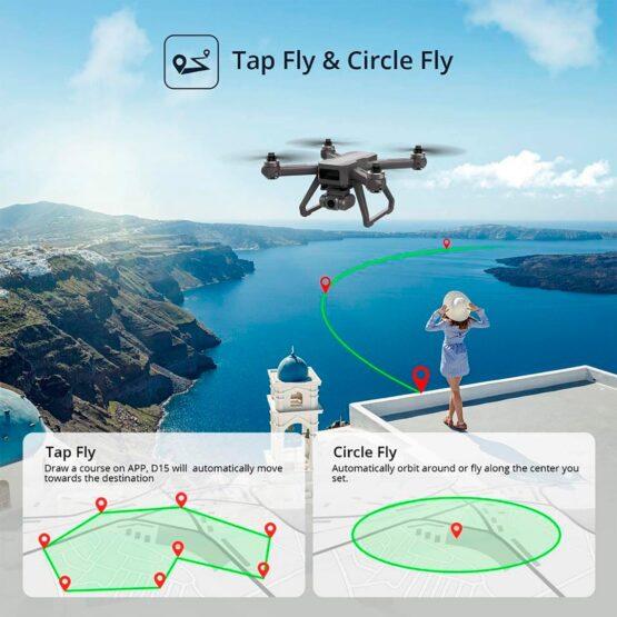 Drone Holy Stone D15 4k Camara Wifi Gps 20min 7
