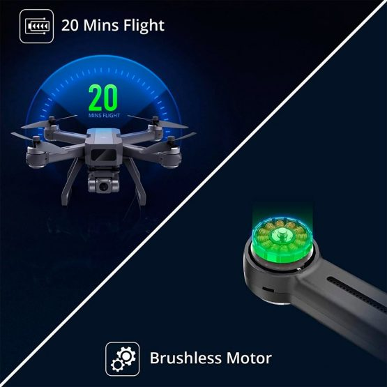 Drone Holy Stone D15 4k Camara Wifi Gps 20min 8