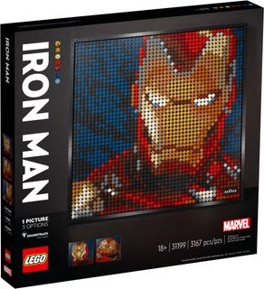 Lego Art Marvel Studios Iron Man 9