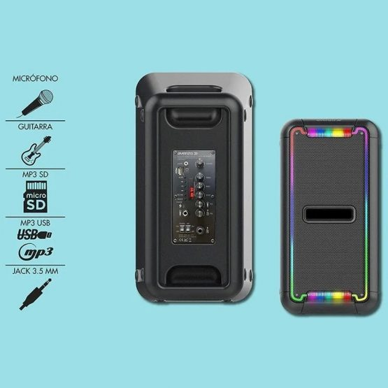Parlante Avenzo Bluetooth Led y Micro 250W SP3201B 4
