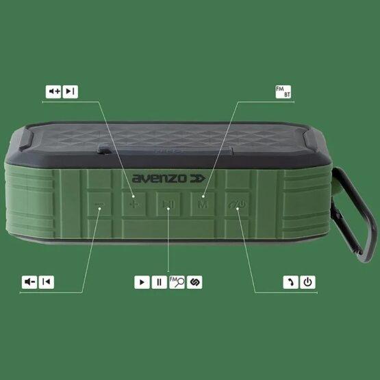 Parlante Avenzo Waterproof Bluetooth SP3002BG 6