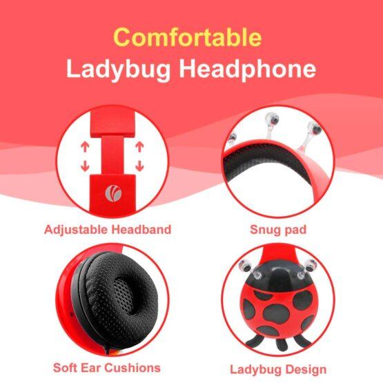 Vcom Auriculares para Niños The Ladybud Headphone DE802 3
