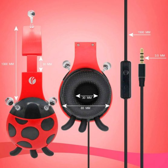 Vcom Auriculares para Niños The Ladybud Headphone DE802 5