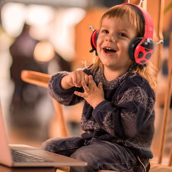 Vcom Auriculares para Niños The Ladybud Headphone DE802 7