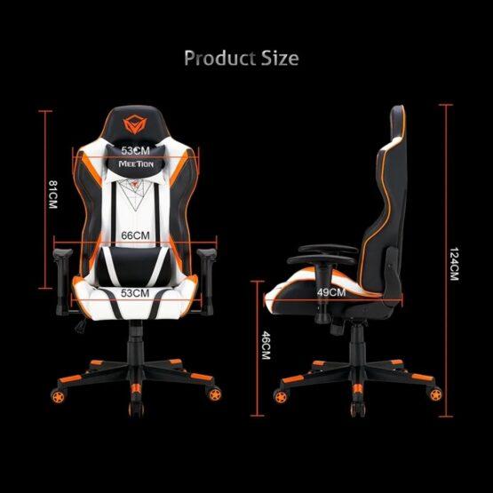 Silla Gamer Meetion Black + Orange/ Black + White MT-CHR15 12