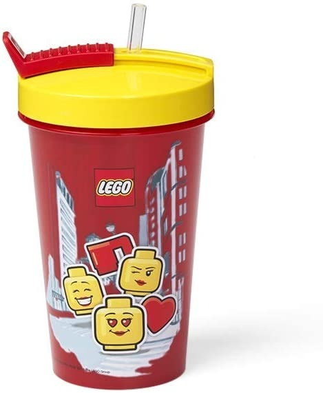 Vaso con Sorbito Lego Infantil 2