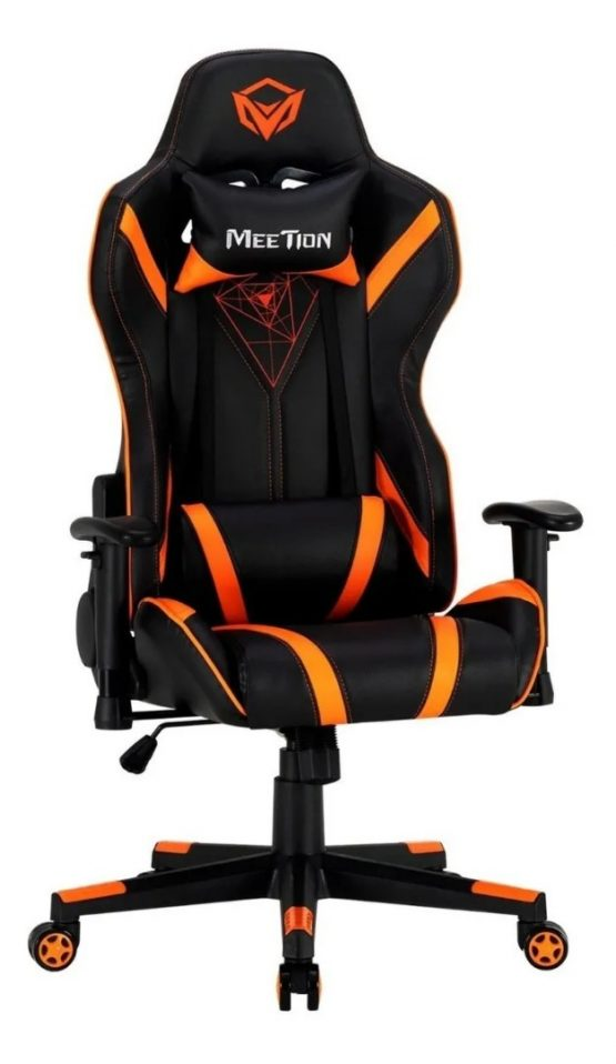 Silla Gamer Meetion Black + Orange/ Black + White MT-CHR15 2