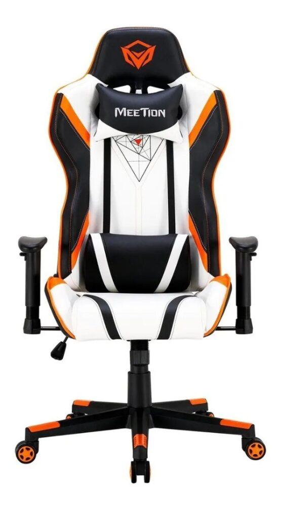 Silla Gamer Meetion Black + Orange/ Black + White MT-CHR15 8