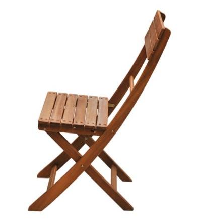 Silla Catania de madera natural Just Home Collection 3