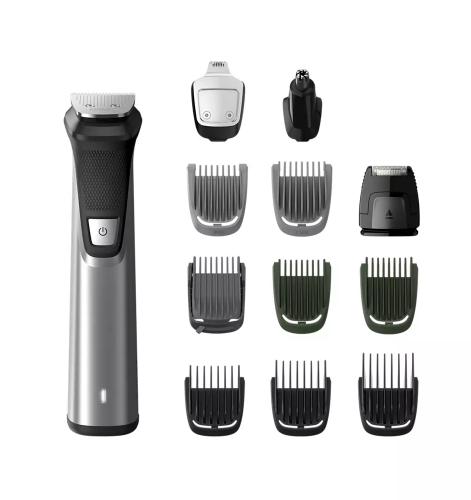 Cortabarba Philips Multigroom Serie 7000 12 en 1, Vello Facial, Corporal, y Cabello 1