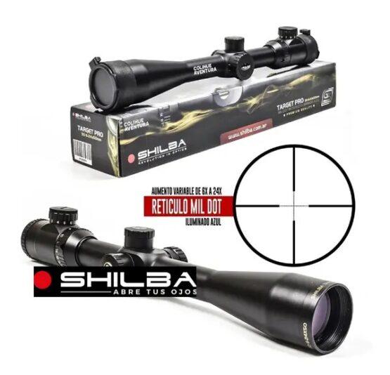 Mira Telescopica Shilba 6-24x50 IR-L Target Pro 30 MIL DOT Blue Reticulo Iluminado 4