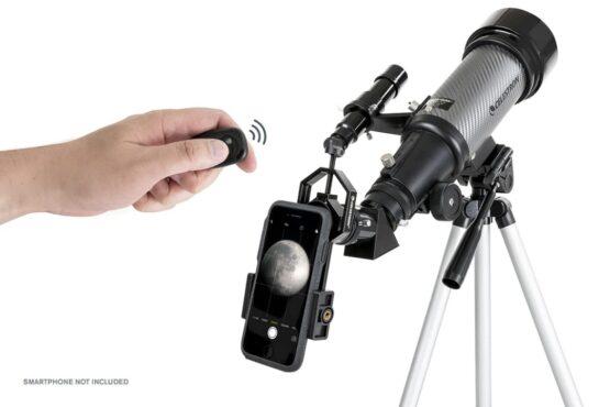 Telescopio Celestron Travel Scope 70 DX Portatil con Adaptador para Smartphone 7