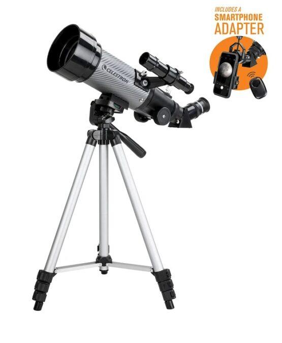 Telescopio Celestron Travel Scope 70 DX Portatil con Adaptador para Smartphone 2